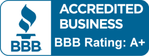 A+ Rated Accredited Business Certificate.