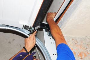 Signs for a garage door repair in Nevada.
